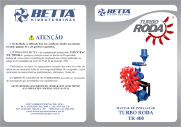 turbo roda tr 400 - BETTA HIDROTURBINAS