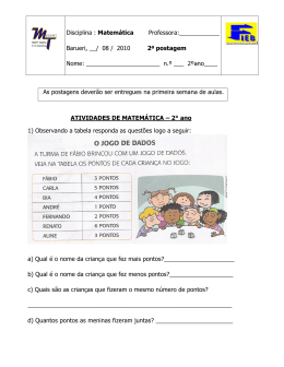 Disciplina : Matemática Professora:______ Barueri, __/ 08 / 2010 2ª