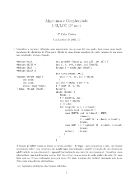 Algoritmos e Complexidade LEI/LCC (2o ano)