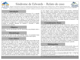 Síndrome de Edwards – Relato de caso