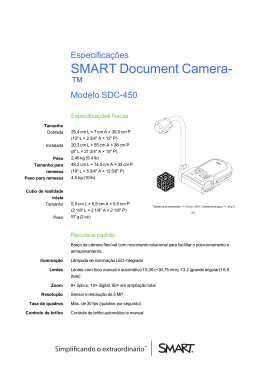 SMART Document Camera 450 specifications