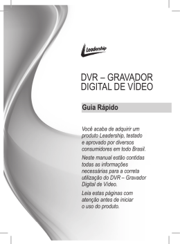 DVR – GRAVADOR DIGITAL DE VÍDEO