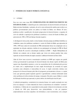 1 INTRODUÇÃO: MARCO TEÓRICO–CONCEITUAL 1.1 O