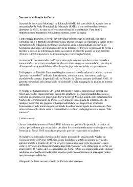 Normas de utilização - Secretaria Municipal de Educação