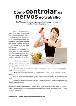 Como controlar os nervos no trabalho