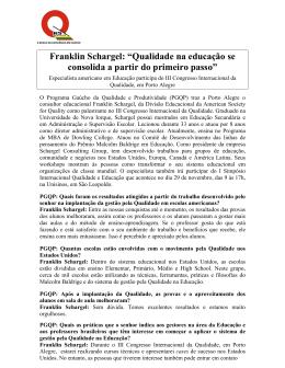 Franklin Schargel - Movimento Brasil Competitivo
