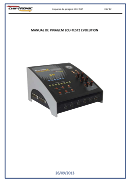 MANUAL DE PINAGEM ECU-TEST2 EVOLUTION