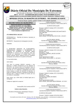 Diário Oficial Do Município De Extremoz
