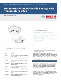 Detectores Fotoelétricos de Fumaça e de Temperatura D273