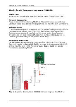 Medição de Temperatura com DS1820