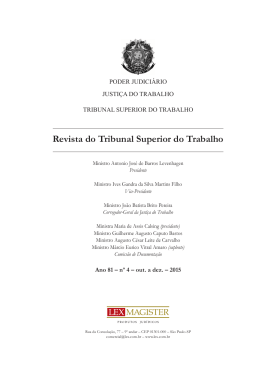 Revista do Tribunal Superior do Trabalho