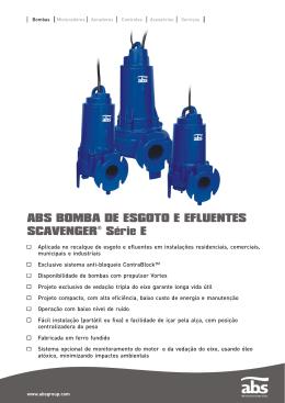 ABS BOMBA DE ESGOTO E EFLUENTES SCAVENGER Série E