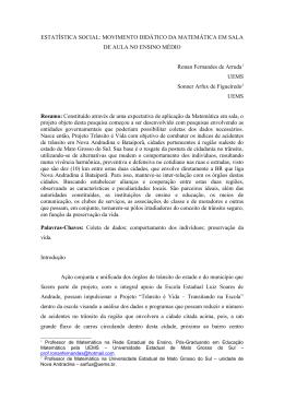 ESTATÍSTICA SOCIAL - Centro de Pesquisa em Análise do Discurso