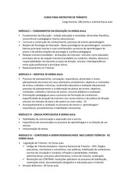 CURSO PARA INSTRUTOR DE TRÂNSITO