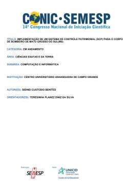 TÍTULO: IMPLEMENTAÇÃO DE UM SISTEMA - O Conic