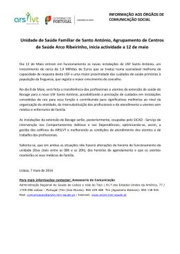 2014-05-07 Unidade de Saúde Familiar de Santo António
