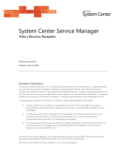 System Center Service Manager - Center