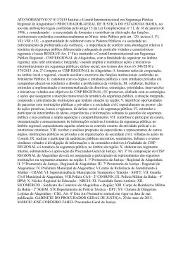 ATO NORMATIVO Nº 013/2015 Institui o Comitê Interinstitucional
