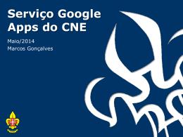Serviço Google Apps do CNE