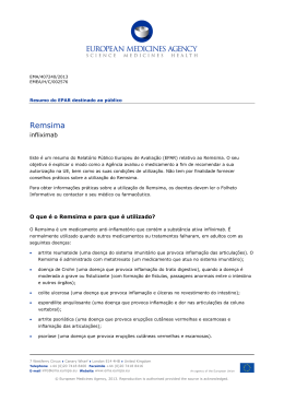 Remsima, infliximab - European Medicines Agency