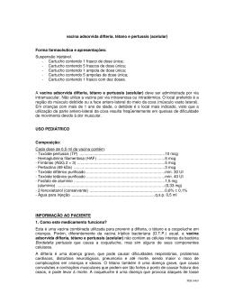vacina adsorvida difteria, tétano e pertussis
