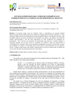 sa08-10316 - estágio supervisionado: tempo de experiências e