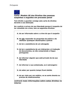 Carta- Modelo UE dos Direitos das pessoas suspeitas e