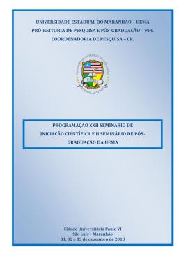 Programação do XXII SEMIC - PPG