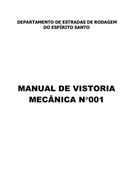 manual de vistoria mecânica n°001 - DER-ES