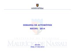 Demanda de automóveis 2014 - Instituto Mauricio de Nassau