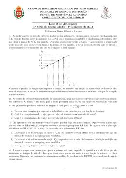Lista 2 de Matemática 1a Série do Ensino Médio