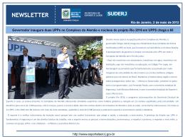 Newsletter - Governo do Estado do Rio de Janeiro