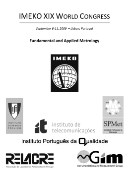 Dowloadable PDF version - IMEKO XIX World Congress, Lisbon