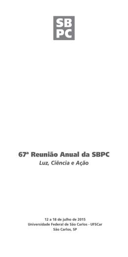 67ª Reunião Anual da SBPC - PROPesq