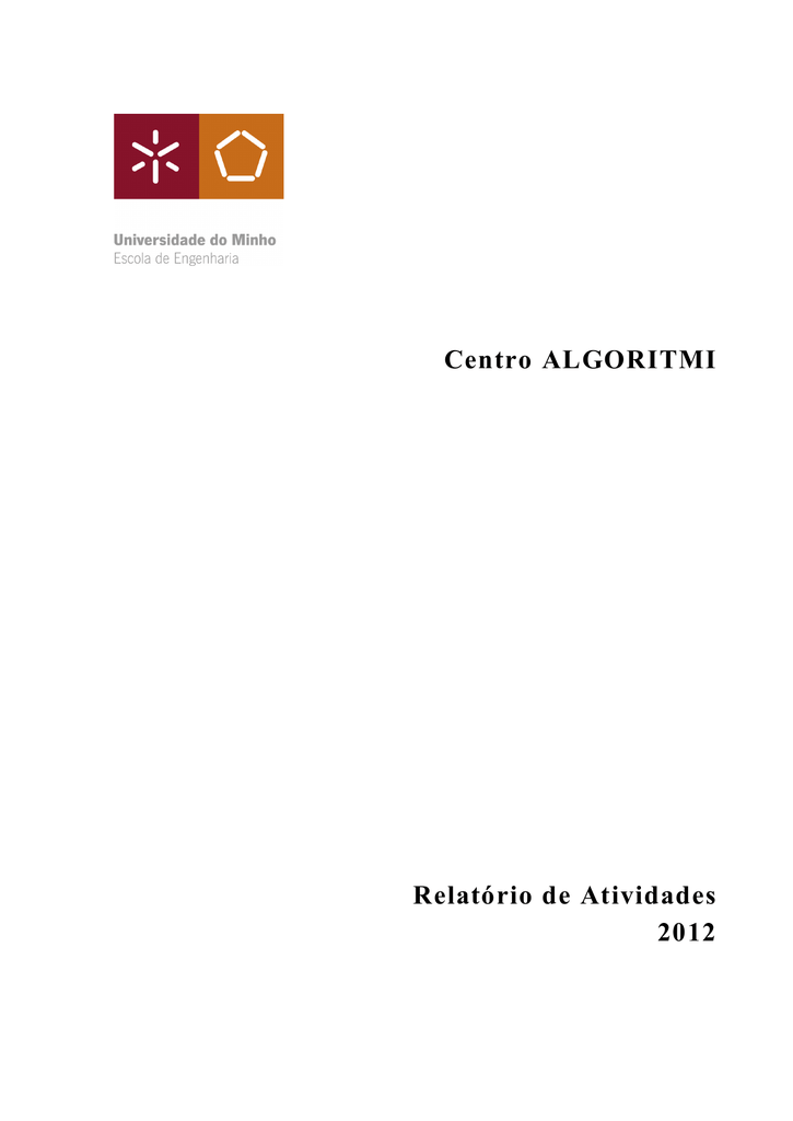 2012 Annual Activities Report - Centro ALGORITMI
