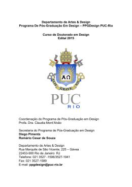 Edital - PUC-Rio