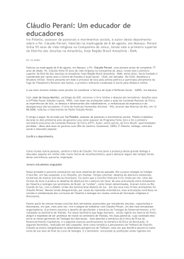 2008-08 Ivo Poleto IHU Claudio Perani sj Educador de Educadores