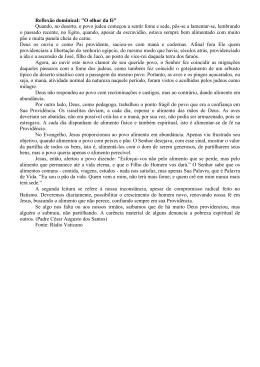 """Reflexão dominical: """"O olhar da fé"""""""