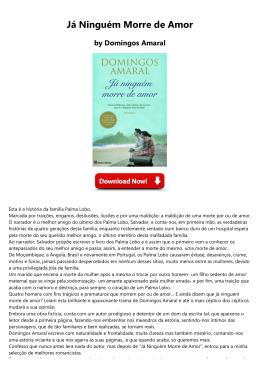 Já Ninguém Morre de Amor by Domingos Amaral