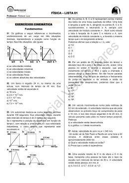 FÍSICA – LISTA 01 - Refferencial Cursos
