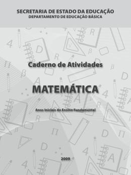 Caderno de Atividades - Matemática