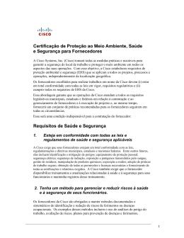 Certificação de Proteção ao Meio Ambiente, Saúde e