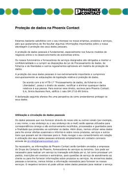 Proteção de dados na Phoenix Contact