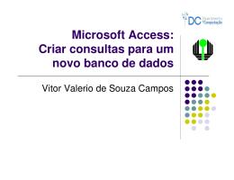 Criar consultas no Access