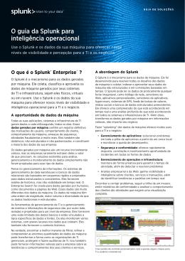 O guia da Splunk para inteligência operacional
