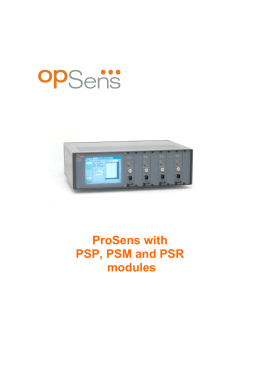 ProSens with PSP, PSM and PSR modules Opsens inc