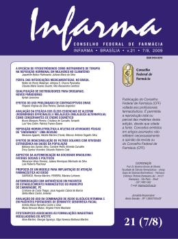 CONSELHO FEDERAL DE FARMÁCIA INFARMA • BRASÍLIA • v.21