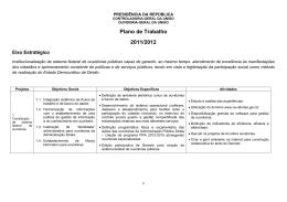 Plano de Trabalho 2011/2012 - Controladoria