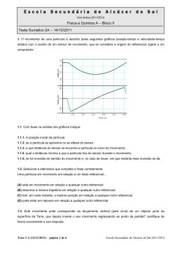 Enunciado (Turma A) - Física e Química? Absolutamente!