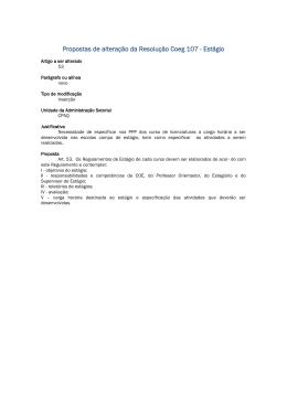 Propostas de alteração da Resolução Coeg 107 - PREG